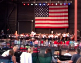 Honoring Military Personnel at a Patriotic Concert