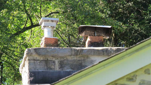 I have a masonry chimney with flues for gas furnace (l) & masonry fireplace (r).