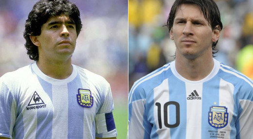 Two World and Argentina Legends, Maradonna and Lionel Messi