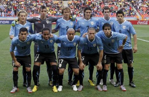 Uruguay Copa America winning squad of 2011