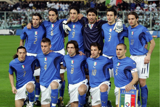 Italy World Cup winning team of 2006 in Berlin, Germany.