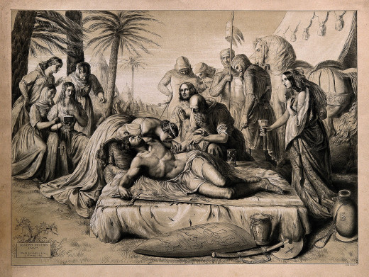 Richard the Lionheart on his deathbed
