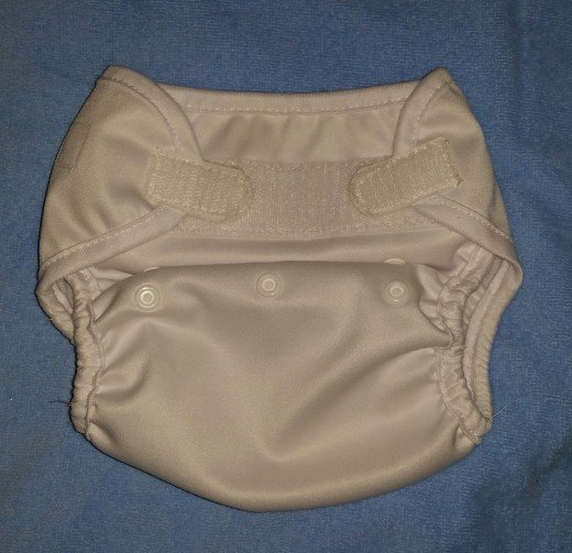 Kawaii diaper cover closed at size medium.