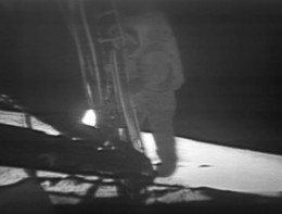 Niel Armstrong becoming the first person to walk on the moon.