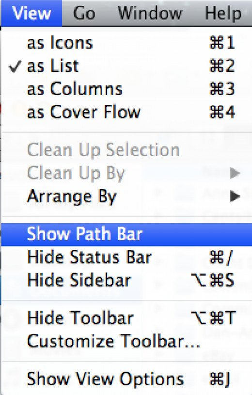 Show Path Bar in Finder