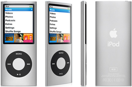 Apple iPod Nano (fourth generation, 16GB, silver)