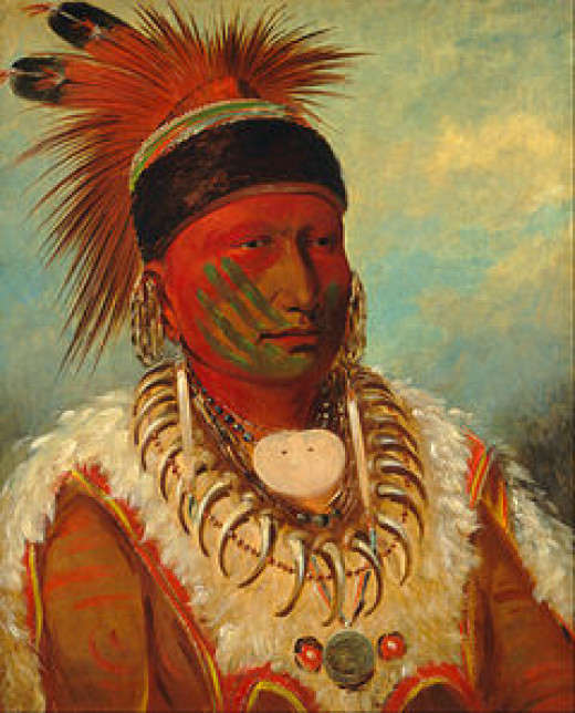 White Cloud, Head Chief of the Ioway - National Gallery of Art (1845)