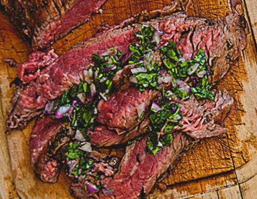 Flank steak pairs well with herbs and spices