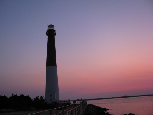 Sunset by the lighthouse.