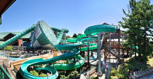 View of the New Frontier Water Park