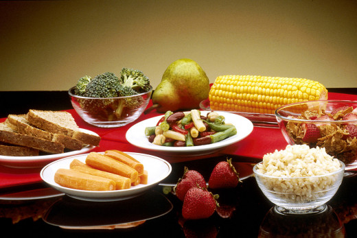 Vegetables, fruits and cereals
