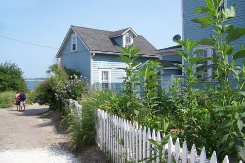 A Rhode Island beach house.