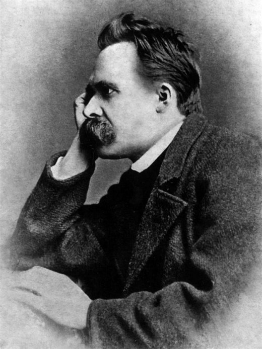 Friedrich Nietzsche - stuck for ideas, or just thinking?
