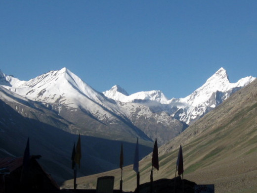 View of peaks surrounding Kunzum Pass.