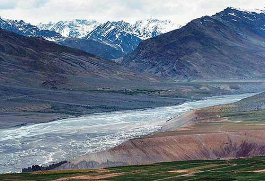 The Spiti river at Kaza