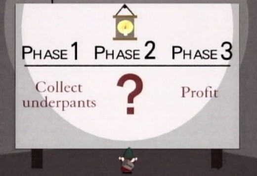 The flaw in Sam Hinkie's plan to build a championship team Is eerily similar to that of Southpark's underpants gnomes...