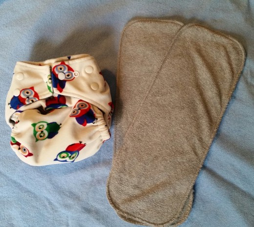 Kawaii Baby waterproof pocket diaper and Bamboo Charcoal inserts.