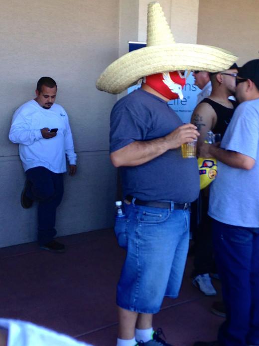 A random Angels fan just being a fan.  Drink up amigo!