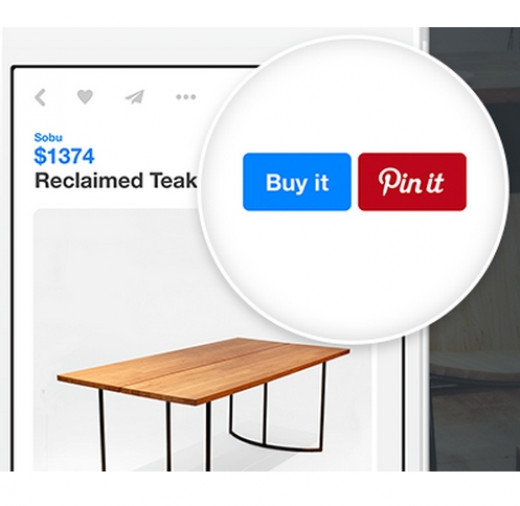 Pinterest has in introduced 'Buy it' buttons for direct purchase and shipping of goods online using mobile apps.