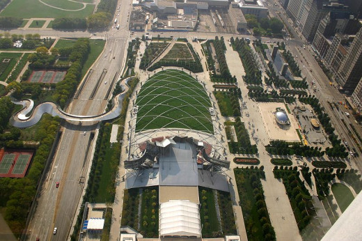 A bird's eye view of the park.