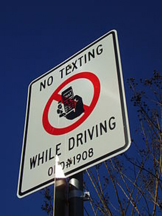 No driving and texting.
