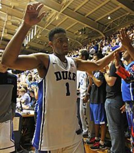 Jabari Parker as a Duke college player