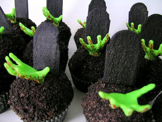 Zombie Halloween Cupcakes by jamieanne, on Flickr