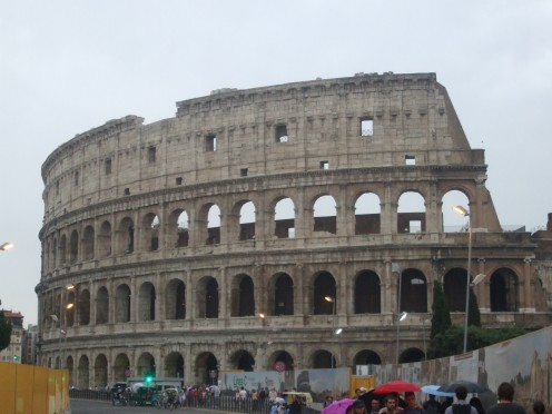 The part of the Colosseum that survived the most. Built by Geordie brickies.