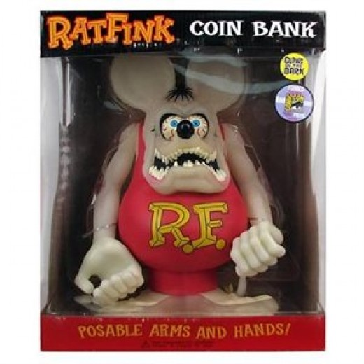 Rat fink glow in the dark bank
