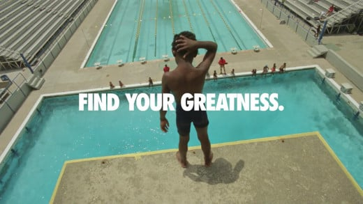 Even little victories need to be celebrated. Nike's Find Your Greatness Campaign focused on athletes of all ages and skill levels in less glamorous Londons (South Africa, Jamaica, China, and many more).