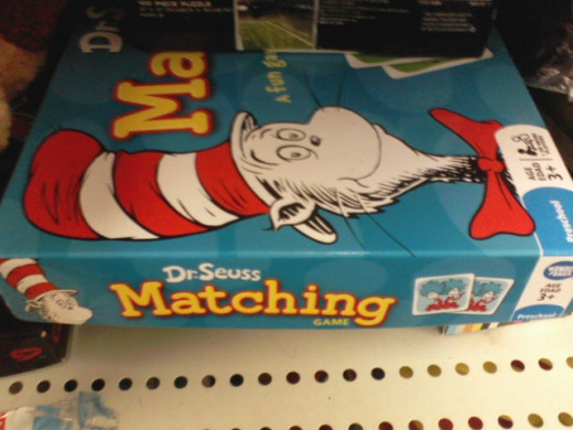 I'm all about board games, matching, AND The Cat in the Hat.