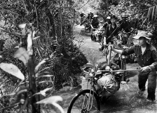 Flooded Ho Chi Minh Trail in Vietnam War