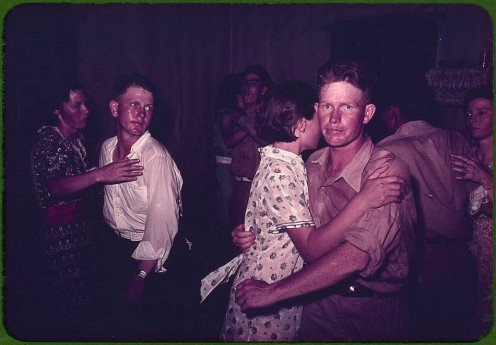 Couples at a square dance in McIntosh, Oklahoma, 1941.