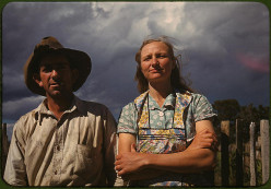 Faro and Doris Caudell, homesteaders in Pie Town, New Mexico, 1940.