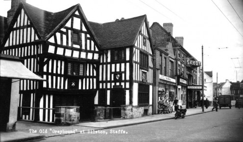 The Greyhound and Punchbowl Inn, Bilston.  Built 1450