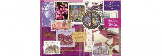 Purple correspondence theme