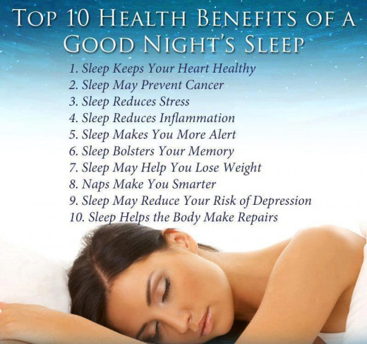 Check out the  top ten health benefits of sleep are you doing these things or do you need to start doing them?