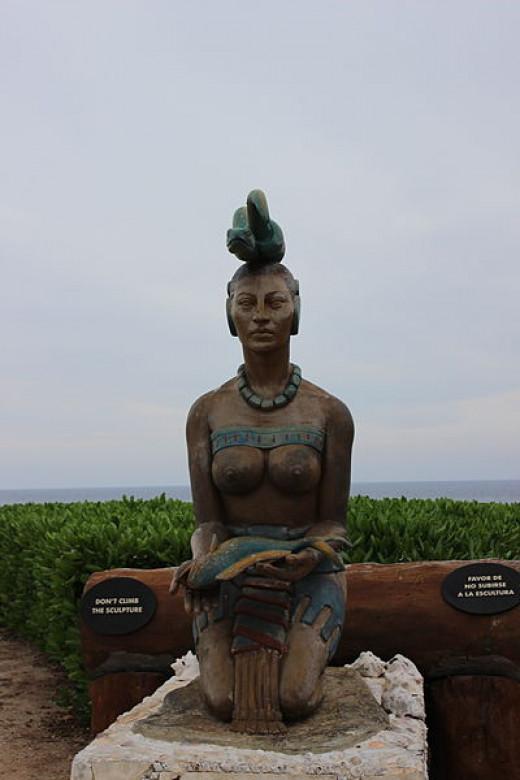 Statue of Ix Chel, Mayan Goddess