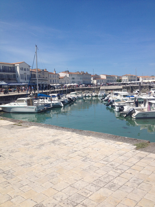 St Martin Harbour - Ile de Re. It is very close to La Rochelle
