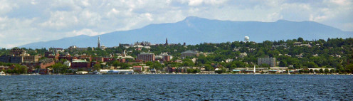 Skyline on Lake Champlain.