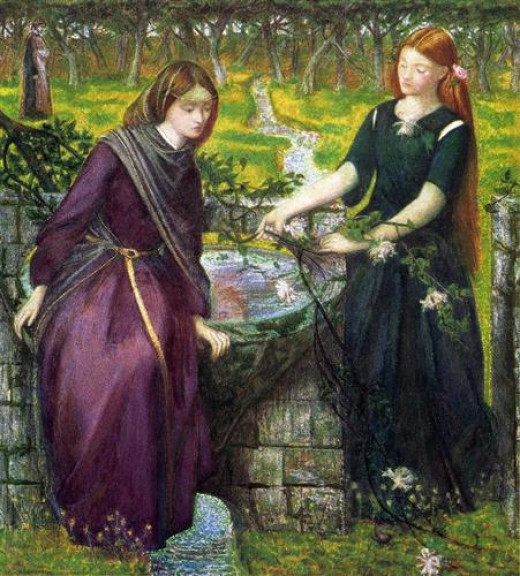 Dante's vision of Rachel and Leah -1855 by Dante Gabriel Rossetti
