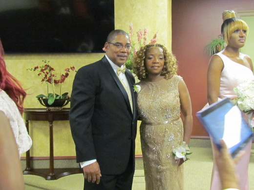 The parents of the bride Walker & Claudette.