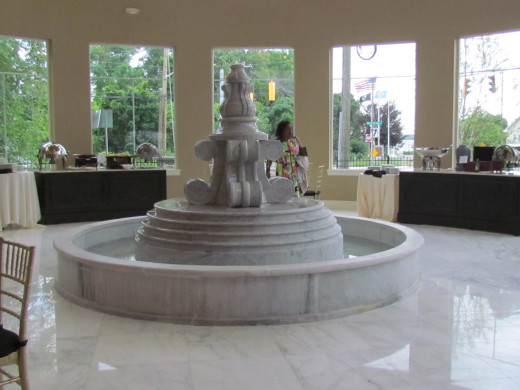 One of the beautiful fountains within the newly decorated Waterfalls.