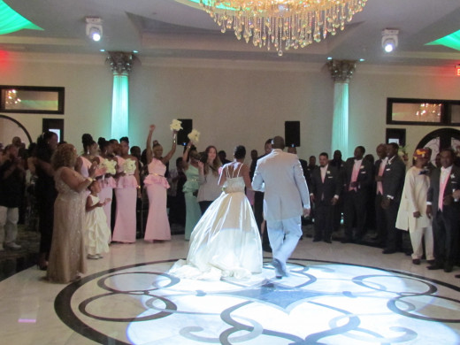 Wanisha and Mo, complete their first dance.