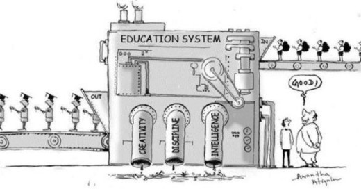 Education should not be a factory of creating human machines! rather it should be a way to explain the truths of life!