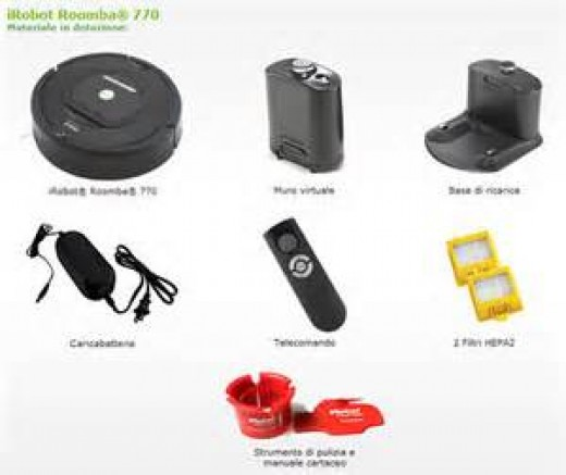 What will  be included with your Roomba 770