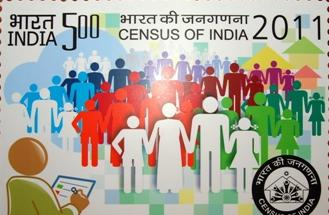 This is the postage stamp launched as to commemorate the occasion of 2011 census.