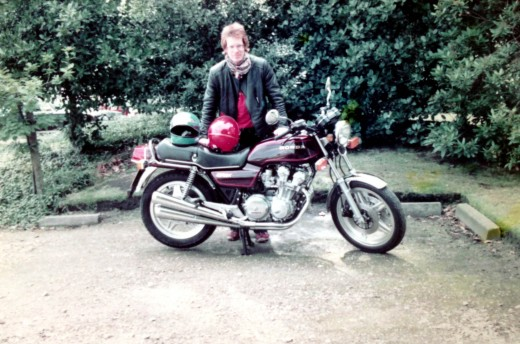 Me and my Honda 750 in 1980