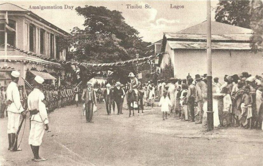 This photo is from 1 January 1914, the day Lord Lugard merged Northern, Southern