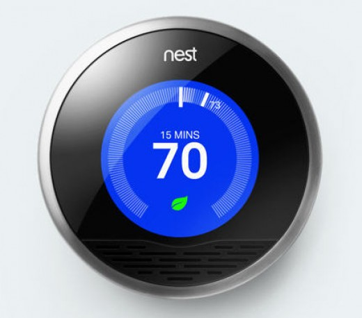 "The ""Smart Thermostat"" can be controlled remotely from a distance via the internet."